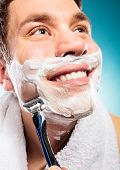 stock photo of shaved head  - Health beauty and skin care concept - JPG