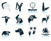 foto of duck-hunting  - Set of hunting icons - JPG