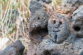 pic of stone sculpture  - Lava stone sculpture of a stylised man - JPG