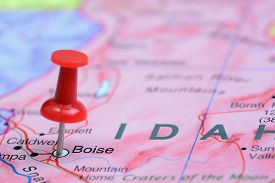 picture of boise  - Photo of pinned Boise on a map of USA - JPG