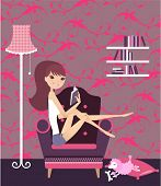 pic of girl reading book  - reading book - JPG