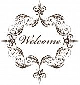 image of scroll design  - welcome sign design - JPG