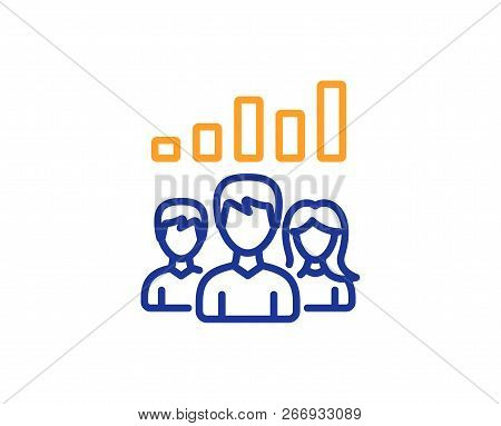 Teamwork Results Line Icon Group