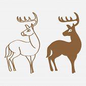 Deer Icon. Deer Icon Art. Deer Icon Eps. Deer Icon Image. Deer Icon Logo. Deer Icon Sign. Deer Icon  poster