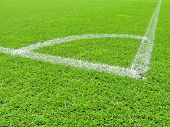 stock photo of football pitch  - Soccer field - JPG