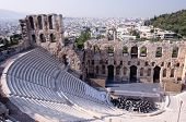 picture of poetry  - Ancient theatre of Herodes Atticus  is a small building of ancient Greece used for public performances of music and poetry - JPG