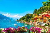 Varenna Town In Como Lake District. Italian Traditional Lake Village. Italy, Europe. poster