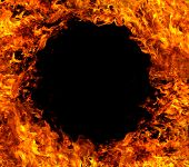 Fire hole background
