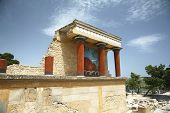 picture of minos  - ruins of the Knossos temple in Crete Greece - JPG