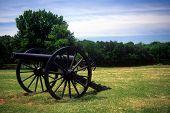 stock photo of yanks  - Three inch rifled cannon Manassas National Historical Battlefield [Bull Run battle] Virginia ** Note: Slight blurriness, best at smaller sizes - JPG