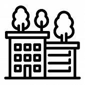 Ecologic House Icon. Outline Ecologic House Icon For Web Design Isolated On White Background poster