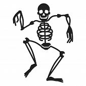 Dancing Skeleton Icon. Simple Illustration Of Dancing Skeleton Icon For Web Design Isolated On White poster