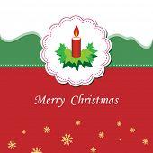 stock photo of rudolf  - Vector Christmas greeting card - JPG