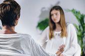 Teenage Girl Having Theta Healing Treatment poster