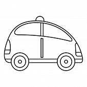 City Self Driving Car Icon. Outline City Self Driving Car Vector Icon For Web Design Isolated On Whi poster