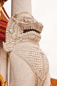 picture of annal  - The lion image in front of Buddhist church at wat benchamaborphit in Thailand - JPG