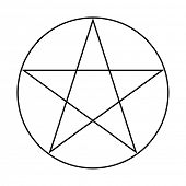 pic of pentacle  - Wicca Pentacle sign isolated on a white background - JPG