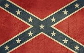 foto of rebel flag  - Confederate rebel grunge flag of southern America in official colors - JPG