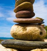 stock photo of fulcrum  - Stone Tower Stable Object - JPG