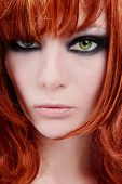 image of red hair  - Close - JPG