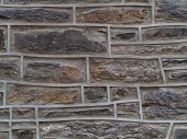 stock photo of fieldstone-wall  - stonework on philadelphia church - JPG