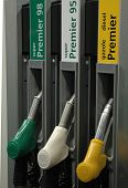pic of high-octane  - Gas pumps at a gasoline filling station