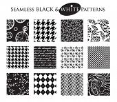 pic of pattern  - Black and White Seamless Patterns  - JPG