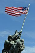 WASHINGTON, DC - MAY 05: Iwo Jima Memorial in Washington, DC on May 05, 2013. The Memorial honors th