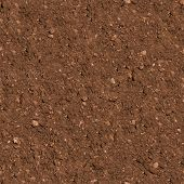 stock photo of mud  - Brown Plowed Soil - JPG