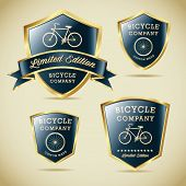 foto of mountain chain  - Classic Bicycles Vector Label Vintage Retro Collection - JPG