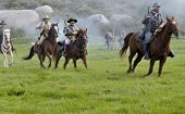 Confederate Cavalry In Battle