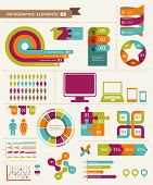 stock photo of economics  - Elements and icons of infographics - JPG