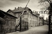 stock photo of nazi  - Arbeit macht frei sign  - JPG
