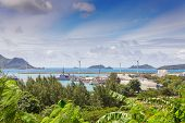 View Of Victoria Port, Mahe, Seychelles
