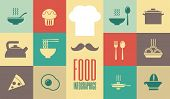 pic of flat-bread  - Flat Food Infographic Elements plus Icon Set - JPG