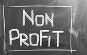 picture of non-profit  - Concept handwritten with chalk on a blackboard - JPG