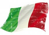 foto of italian flag  - Italian flag with a texture in the wind - JPG
