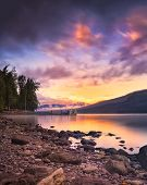 Sunset Over Lake Mcdonald