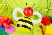 stock photo of parti poodle  - Simple balloon animal bee - JPG