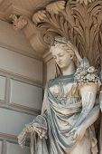 image of ceres  - female statue with horn of plenty - JPG