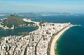 pic of ipanema  - Aerial View of Ipanema and Leblon Beach from the Mountain in Rio de Janeiro - JPG