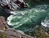 stock photo of klamath  - the klamath river flowing through the klamath national forest in northern california - JPG