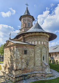pic of suceava  - Image of Neamt MonasteryMoldaviaRomania.It is a Romanian Orthodox religious settlement one of the oldest and most important of its kind in Romania. It was built in 14th century and it is an example of medieval Moldavian architecture. ** Note: Slight grai - JPG