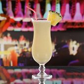 stock photo of pina-colada  - Pina Colada cocktail in a bar disco or a party - JPG