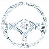 picture of designated driver  - Graphic design or word cloud against drunk drivers - JPG
