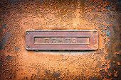 picture of nameplates  - A nameplate of the post used in the former Soviet Union - JPG
