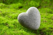 image of pumice-stone  - Grey stone in shape of heart - JPG