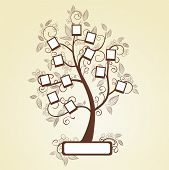 stock photo of substitutes  - Memories tree with photo frames. 