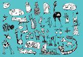 picture of fanny  - Vector cartoon fanny animals set - JPG