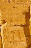 foto of hieroglyphic  - Hieroglyph in Egypt Karnek teple in Luxor - JPG